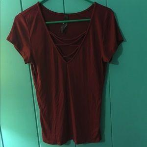 PAC Sun Burgundy shirt